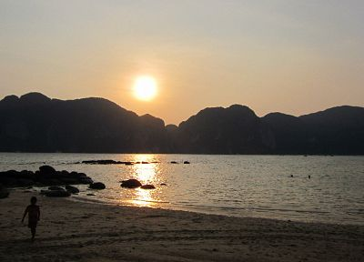 sunset, landscapes, Thailand, beaches - desktop wallpaper
