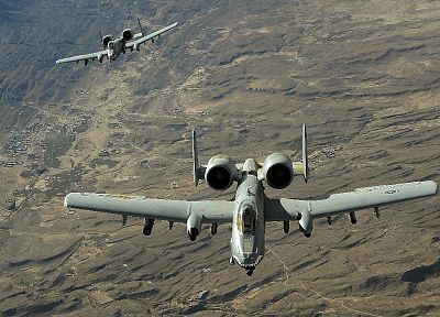aircraft, military, Thunderbolt, A-10 Thunderbolt II - random desktop wallpaper