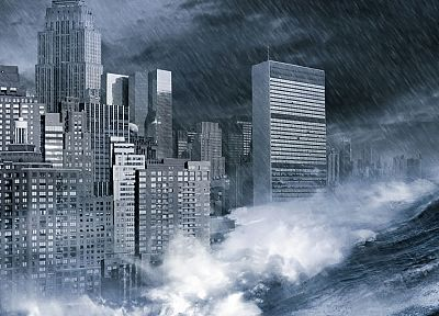 waves, apocalypse, cities - random desktop wallpaper