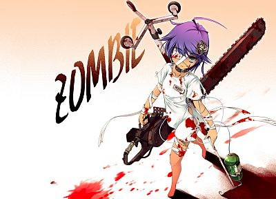 chainsaw, Night of the Living Dead, anime, original characters - random desktop wallpaper