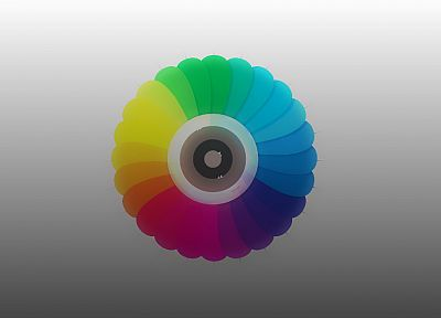 multicolor, vectors, gray background, color spectrum - desktop wallpaper