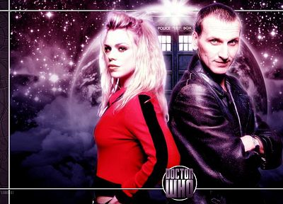Rose Tyler, TARDIS, Billie Piper, Doctor Who, Christopher Eccleston, Ninth Doctor - random desktop wallpaper