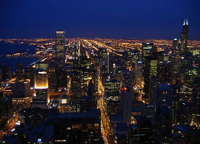cityscapes, night, buildings - desktop wallpaper