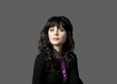 women, Zooey Deschanel, bangs - random desktop wallpaper