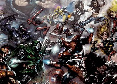 comics, Marvel Comics, X-Force, Dark Avengers - random desktop wallpaper
