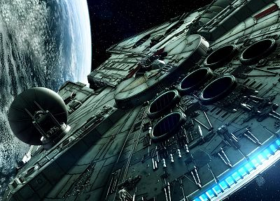 Star Wars, movies, spaceships, Millennium Falcon, vehicles - desktop wallpaper