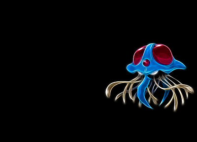 Pokemon, black background, Tentacruel - desktop wallpaper