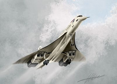airplanes, airliners, Concorde - random desktop wallpaper