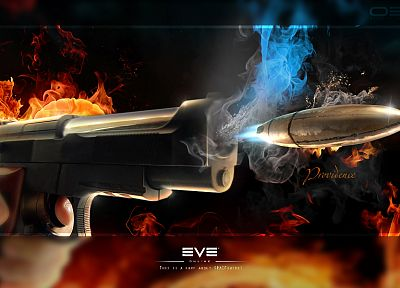 abstract, guns, fire, bullets - random desktop wallpaper