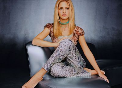 blondes, women, Sarah Michelle Gellar - random desktop wallpaper
