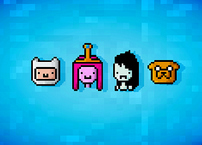 Adventure Time, Princess Bubblegum, 16-bit, Finn and Jake - random desktop wallpaper