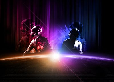 sunrise, music, dawn, Daft Punk, electronics - random desktop wallpaper