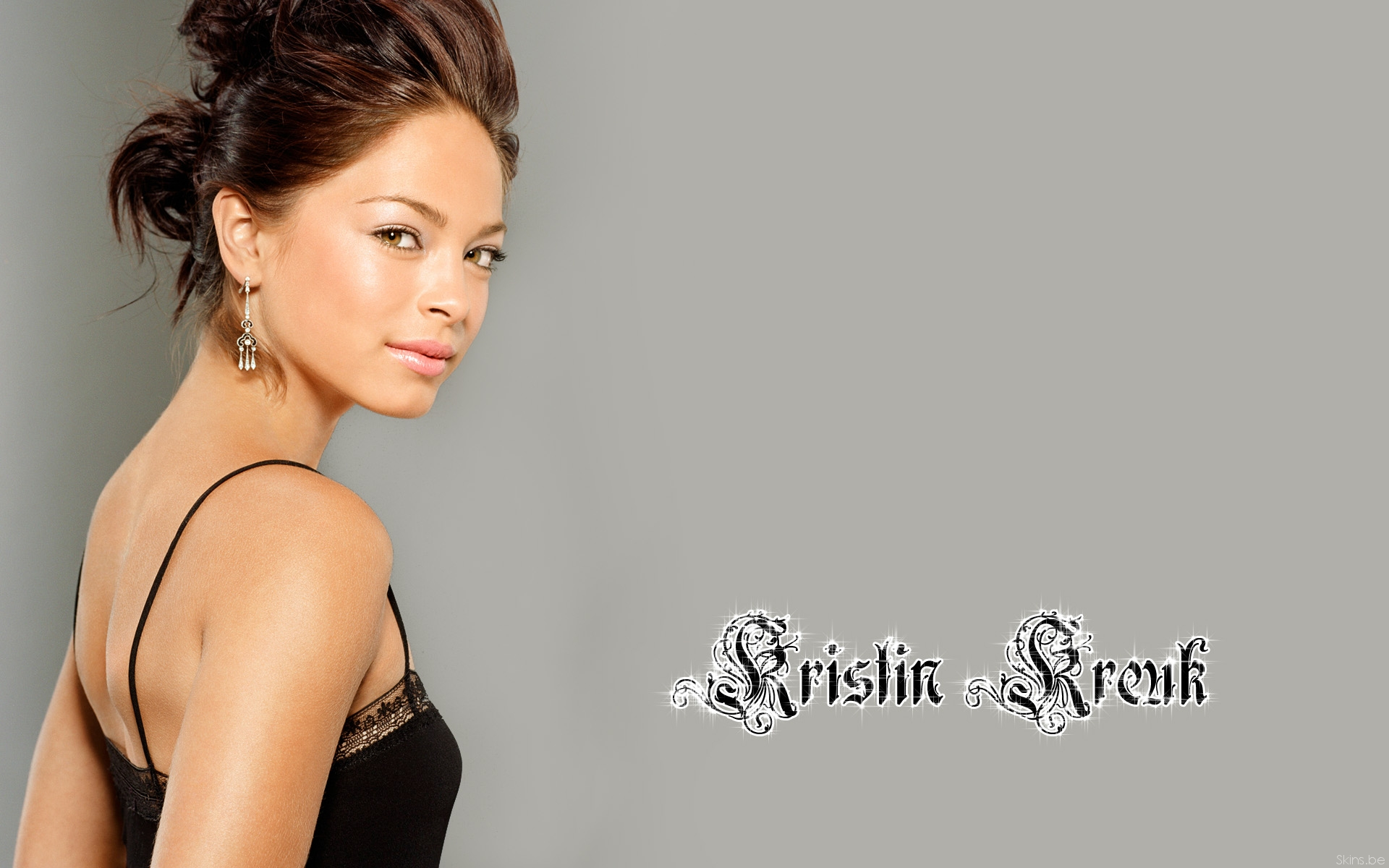 brunettes, women, actress, Kristin Kreuk - desktop wallpaper