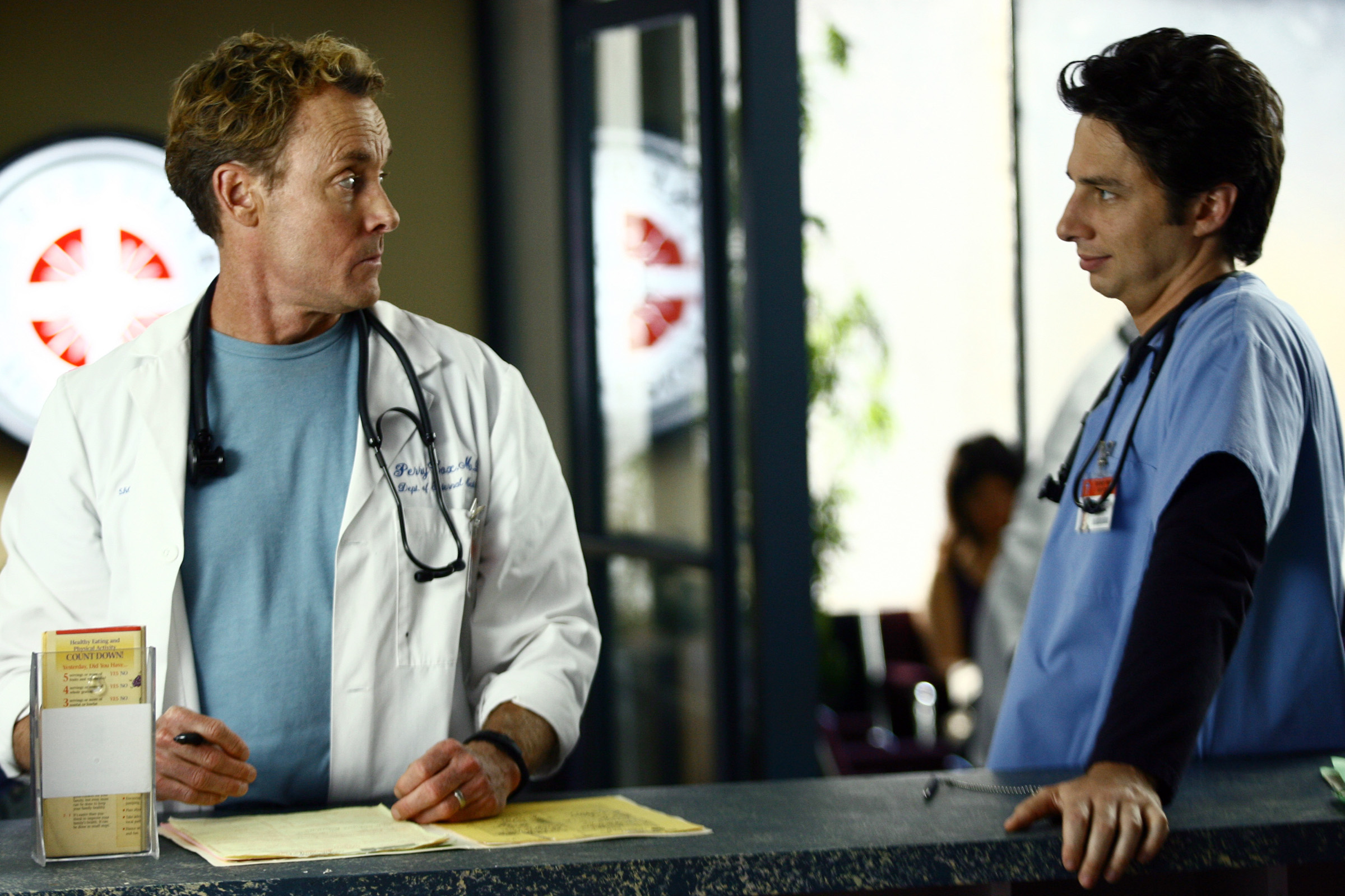 Scrubs, Zach Braff, John C. McGinley, stethoscopes - desktop wallpaper