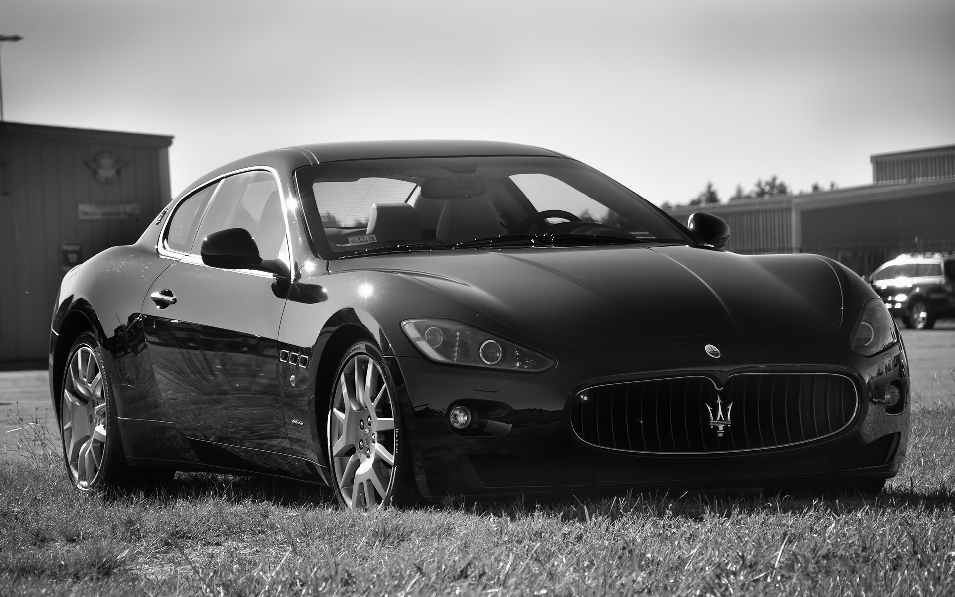 cars, Maserati, grayscale, vehicles - desktop wallpaper