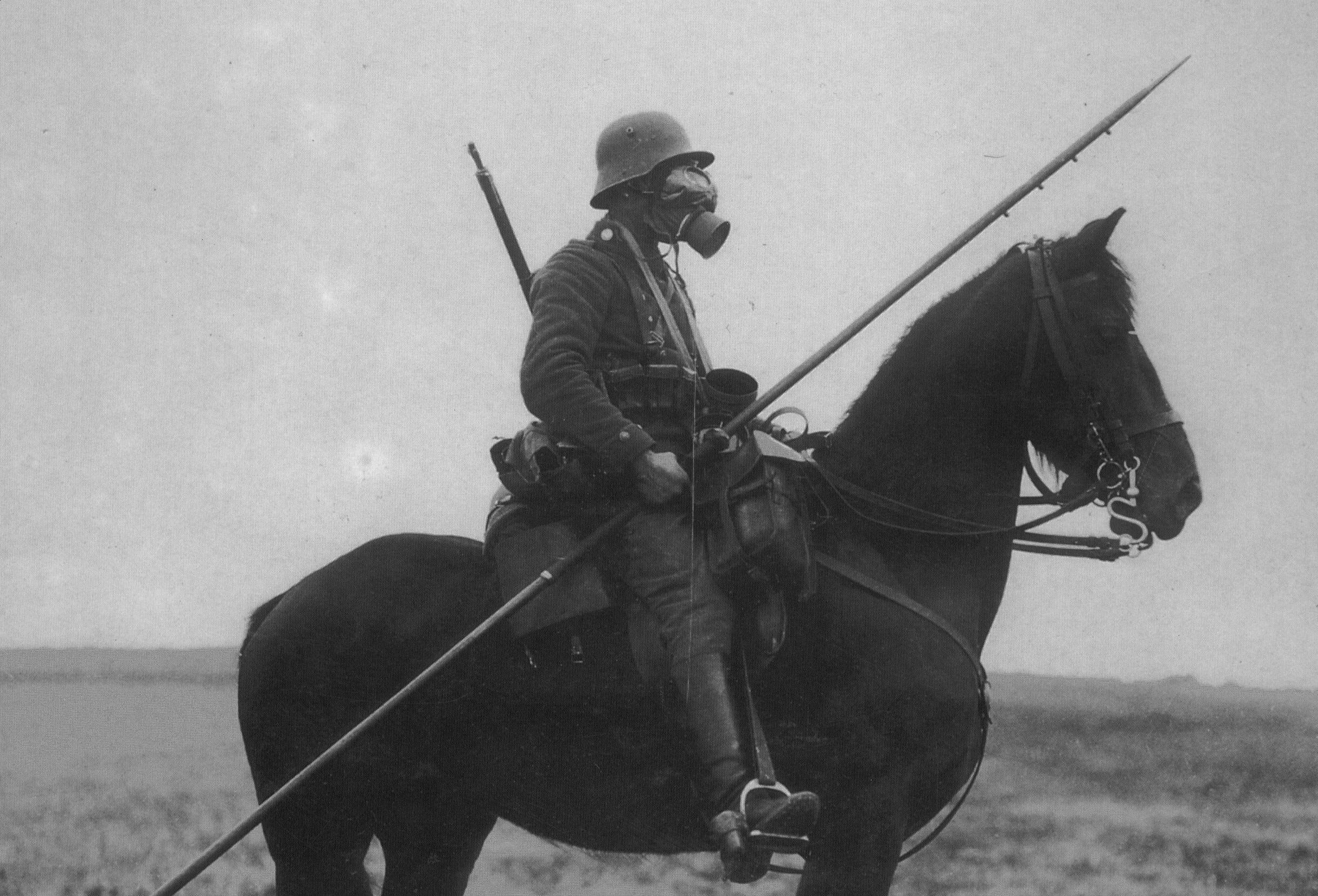 Soldiers Horses World War I Helmets German Armed Forces