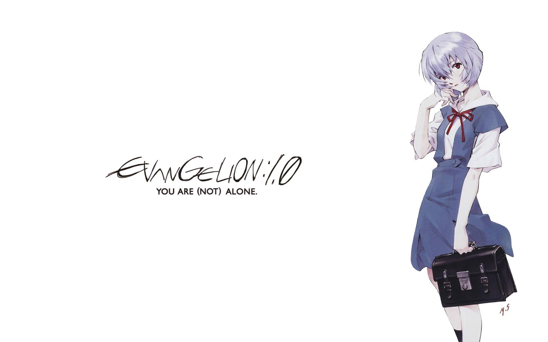 School Uniforms Ayanami Rei Neon Genesis Evangelion Lonely