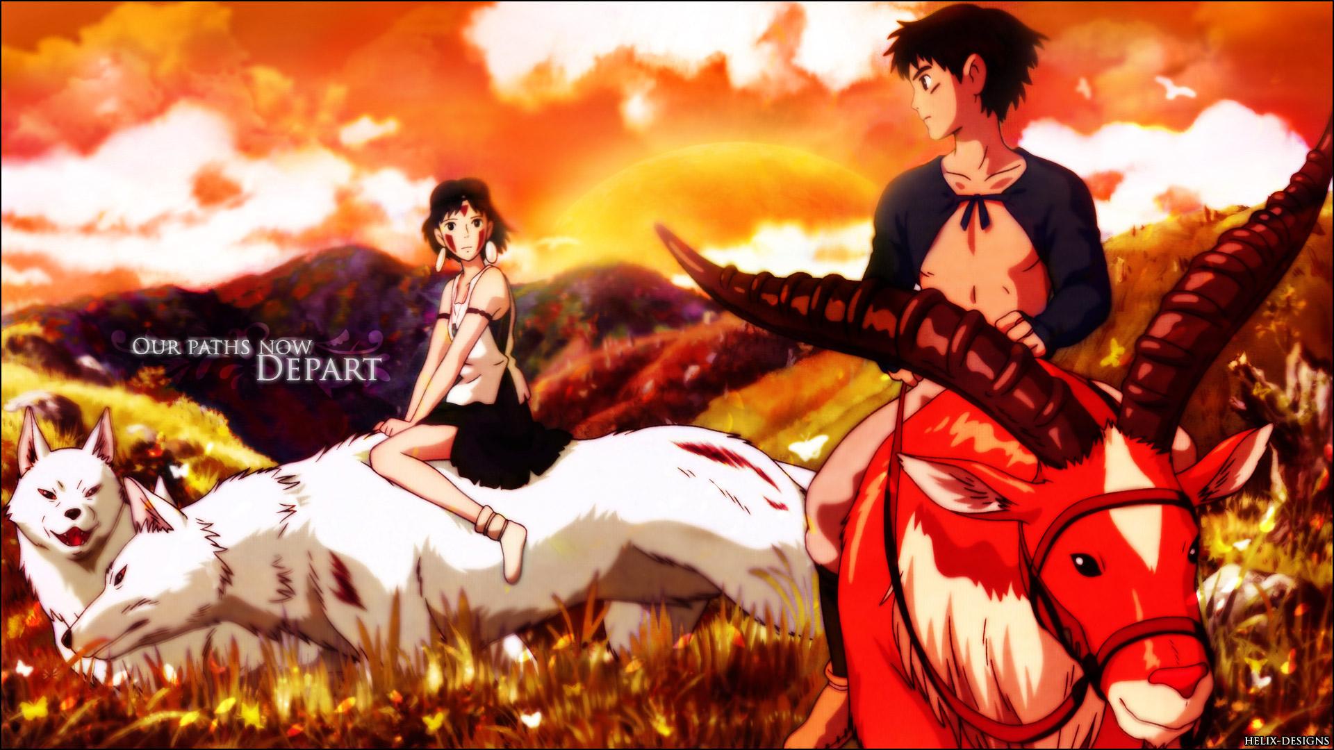 Princess Mononoke Ashitaka Wolves San Princess Mononoke Free Wallpaper Wallpaperjam Com