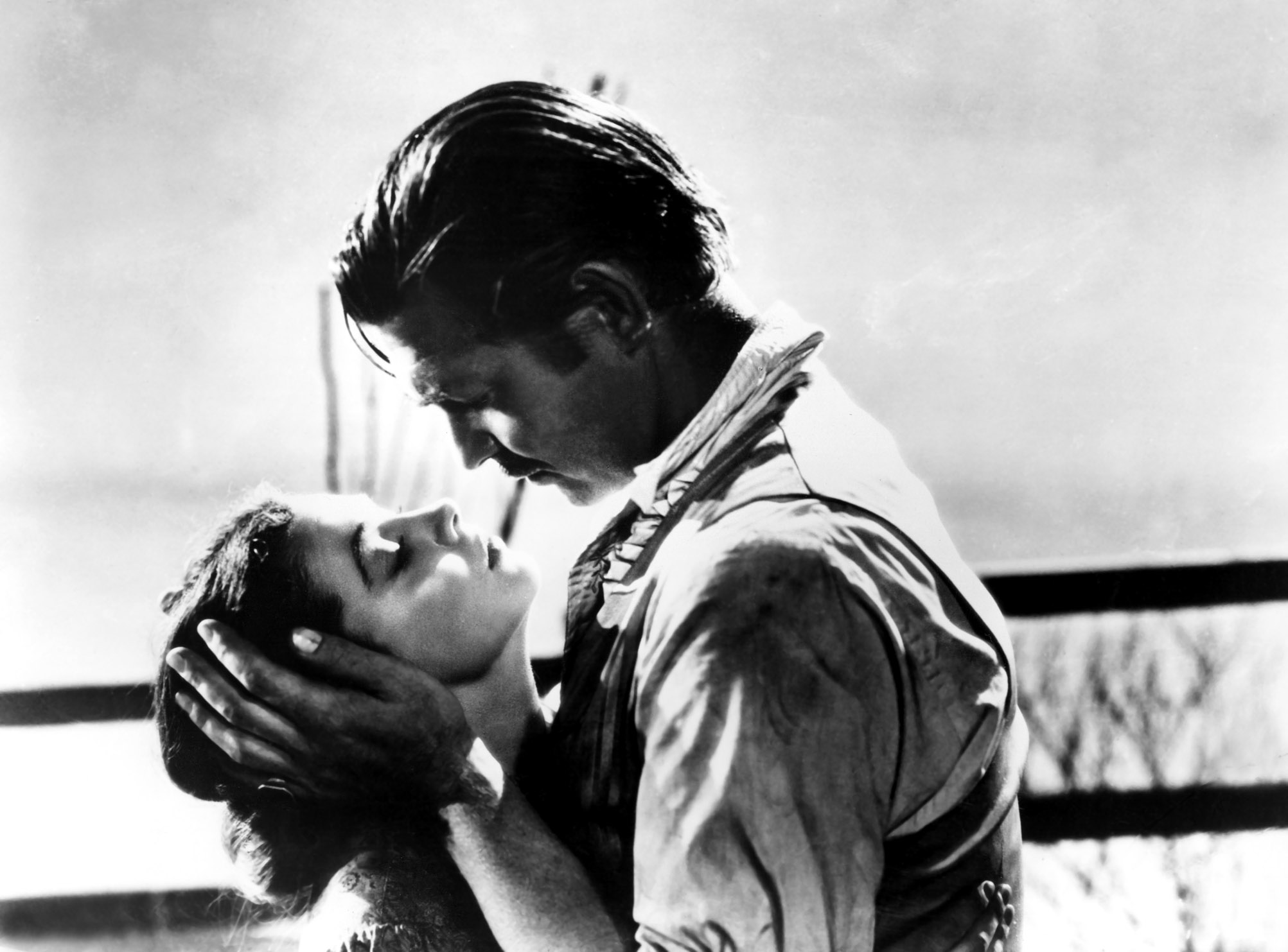 Gone With The Wind Vivien Leigh Clark Gable Free Wallpaper
