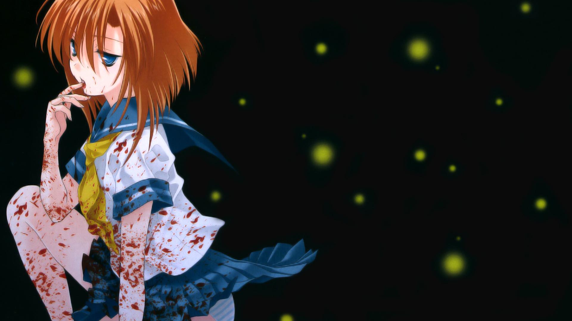 Blood Redheads School Uniforms Higurashi No Naku Koro Ni Free