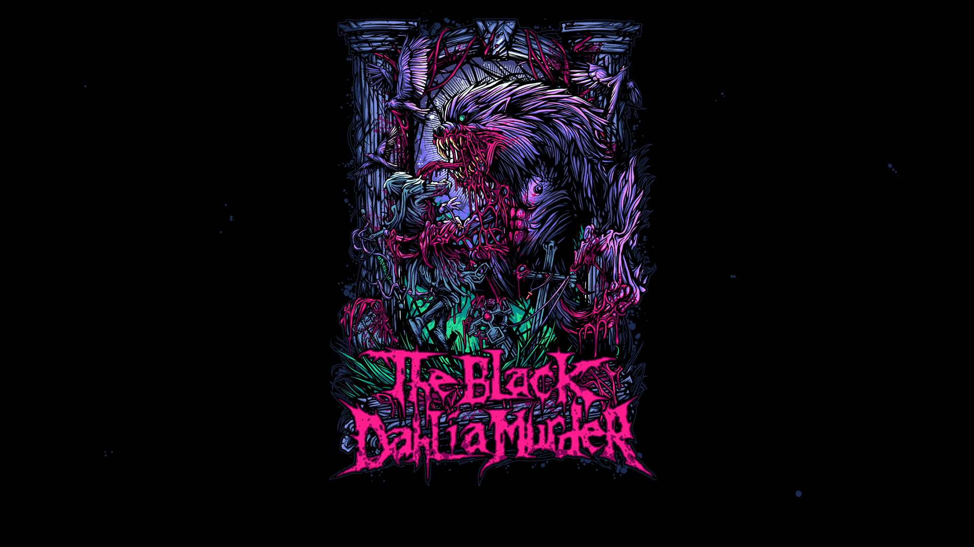Music The Black Dahlia Murder Digital Art Band Free Wallpaper
