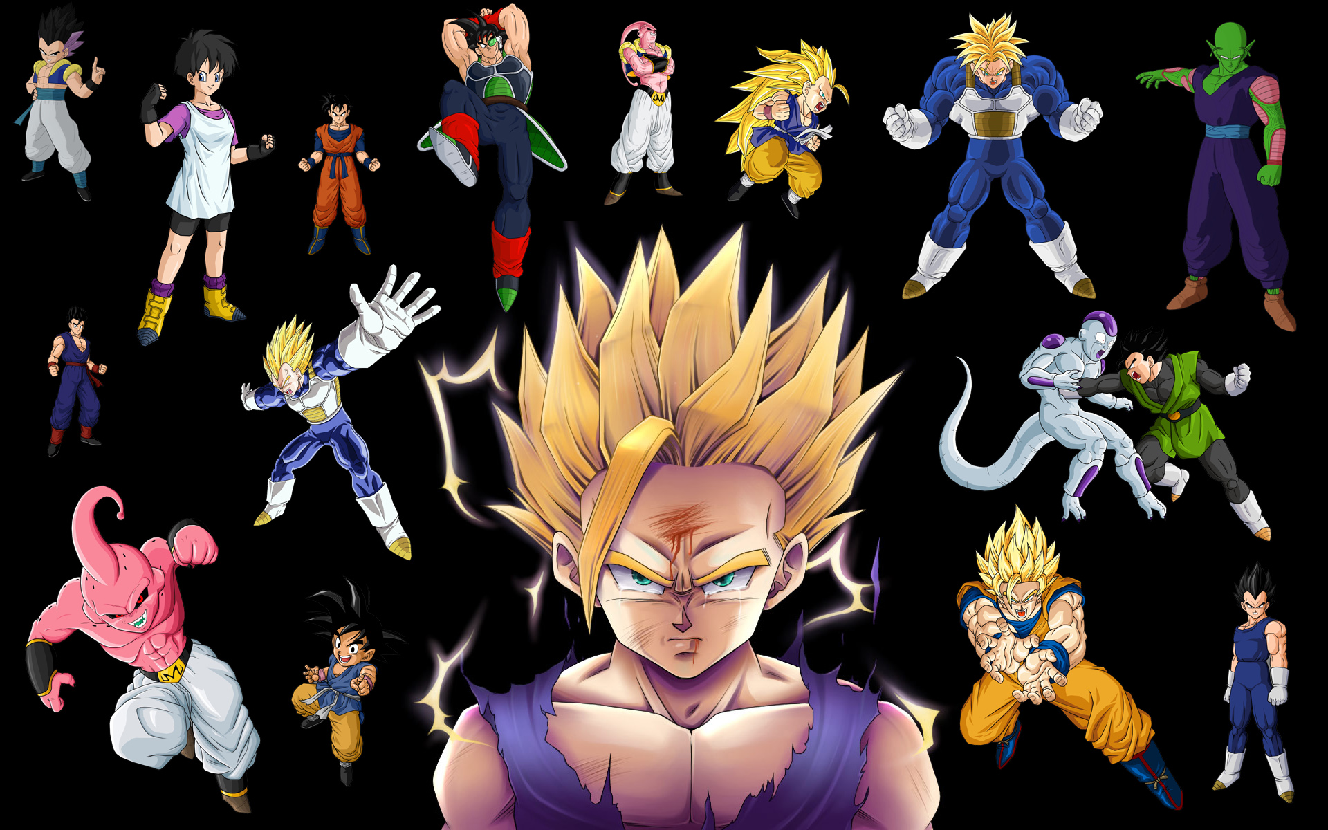 Vegeta Buu Son Goku Frieza Videl Dragon Ball Son Gohan