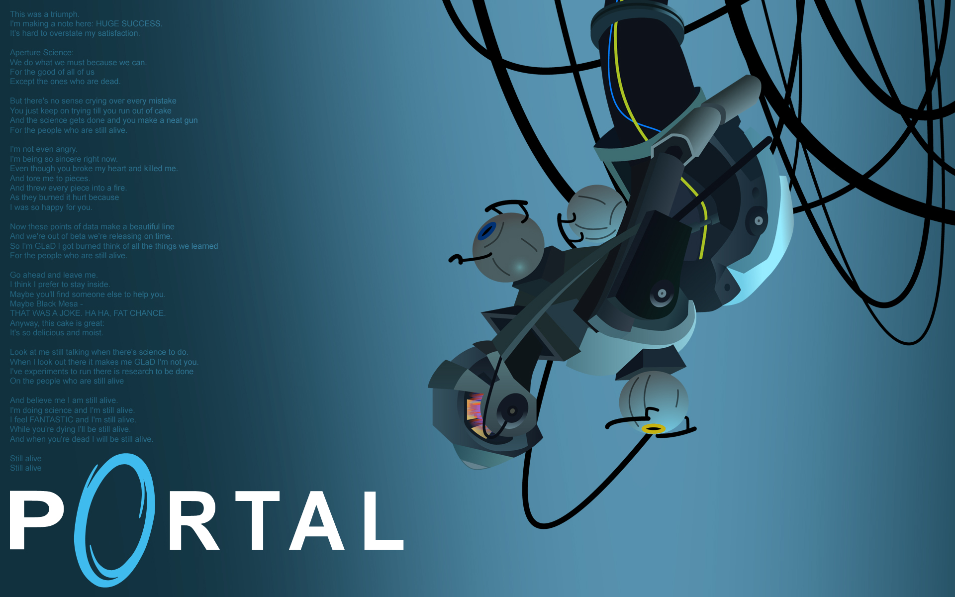 Valve Corporation Portal GLaDOS Still Alive Jonathan Coulton