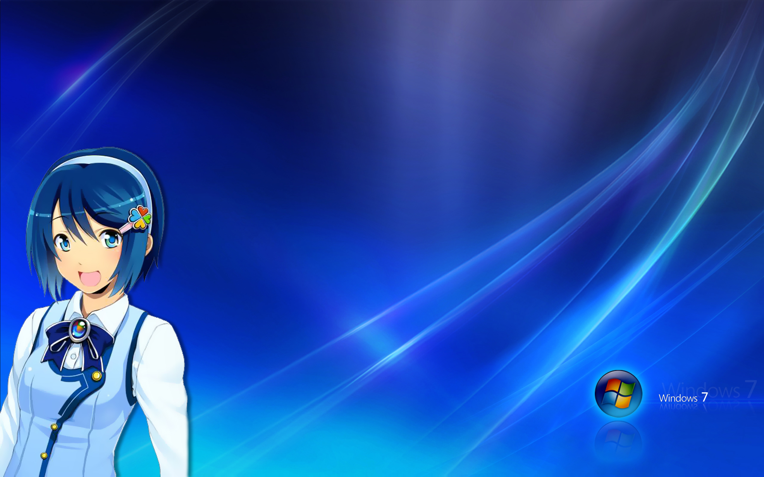 Windows 7 Madobe Nanami anime anime girls personification Free