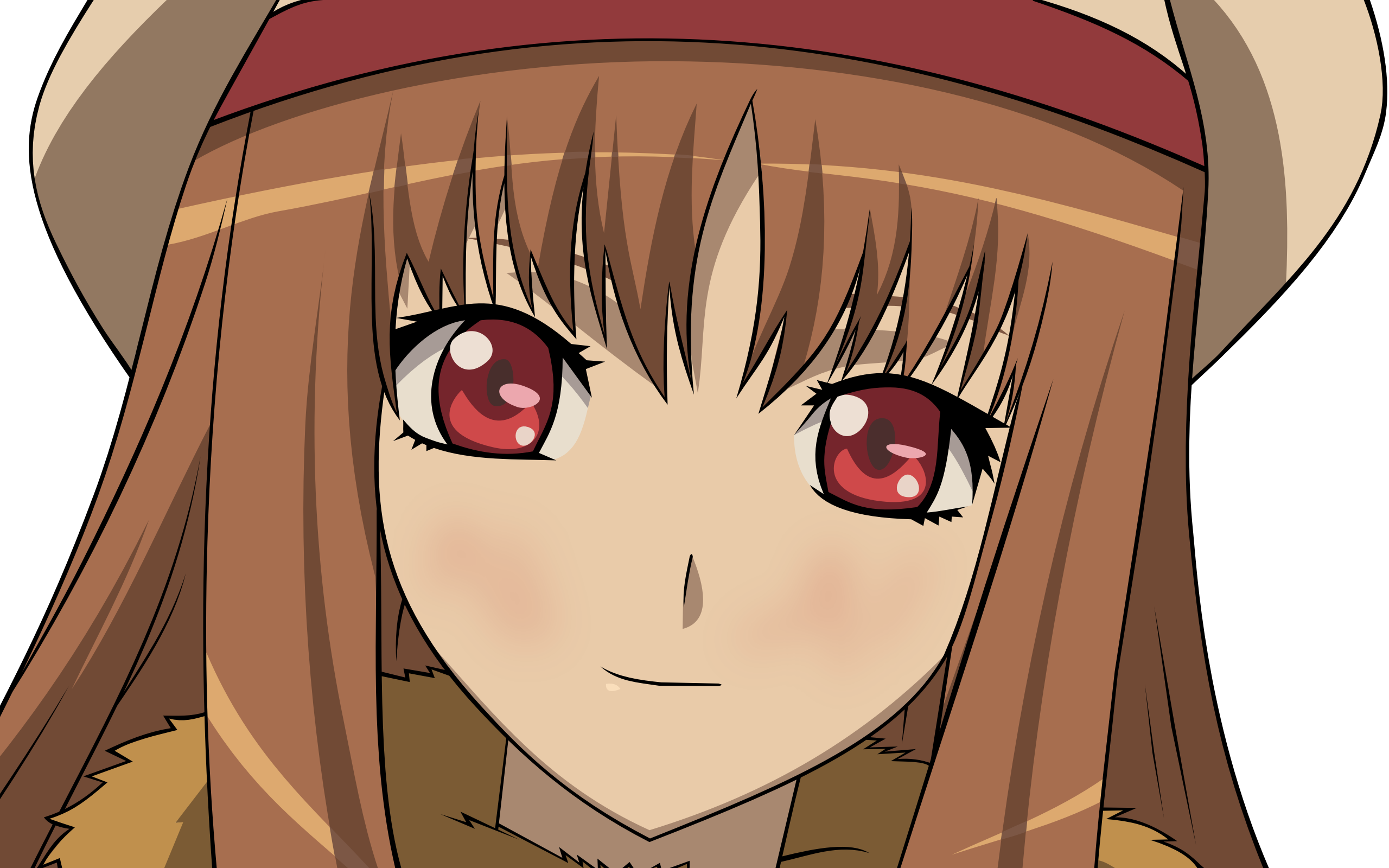 Spice and Wolf, transparent, Holo The Wise Wolf, anime vectors ...