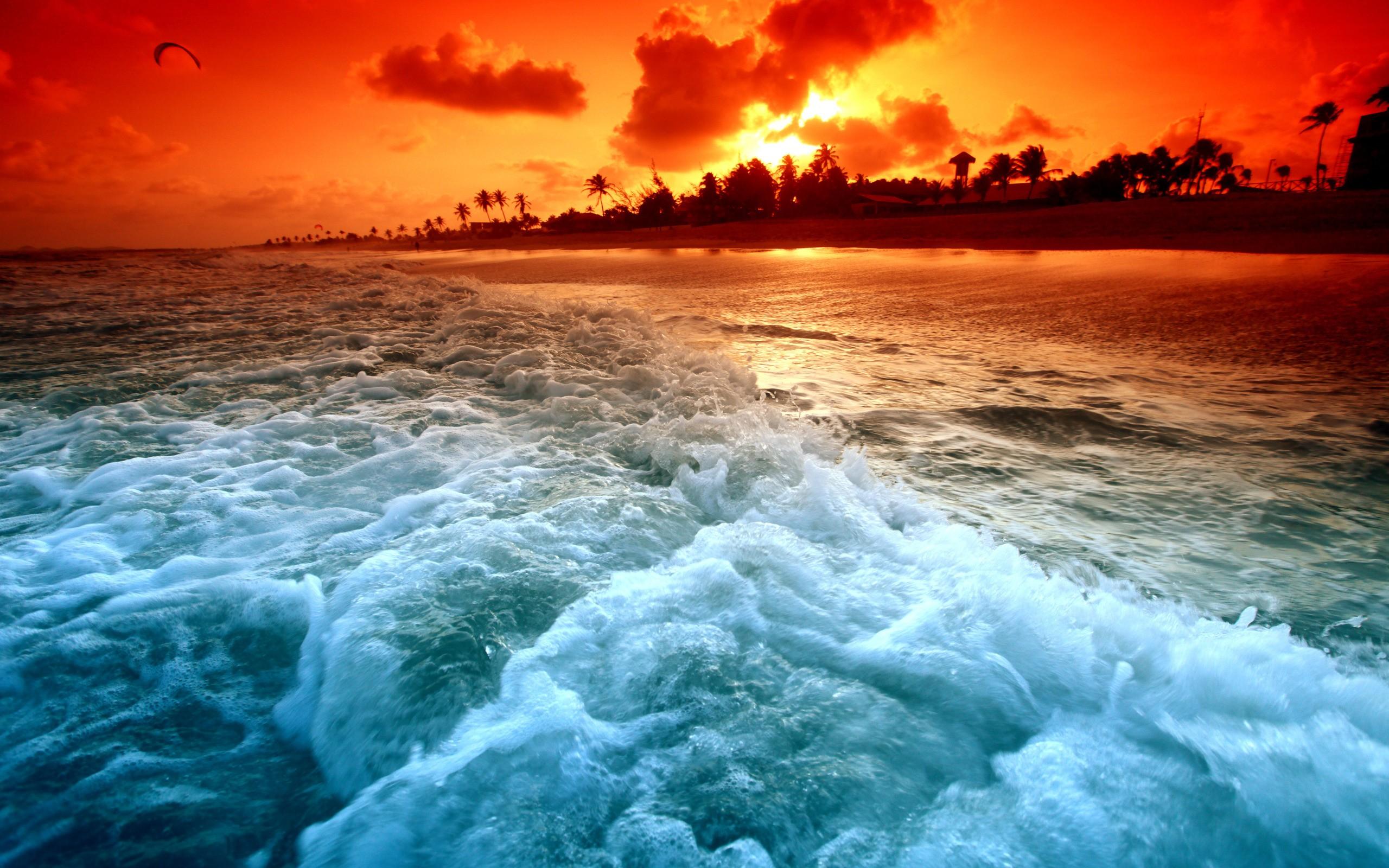 Landscapes Nature Shore Paradise Beaches