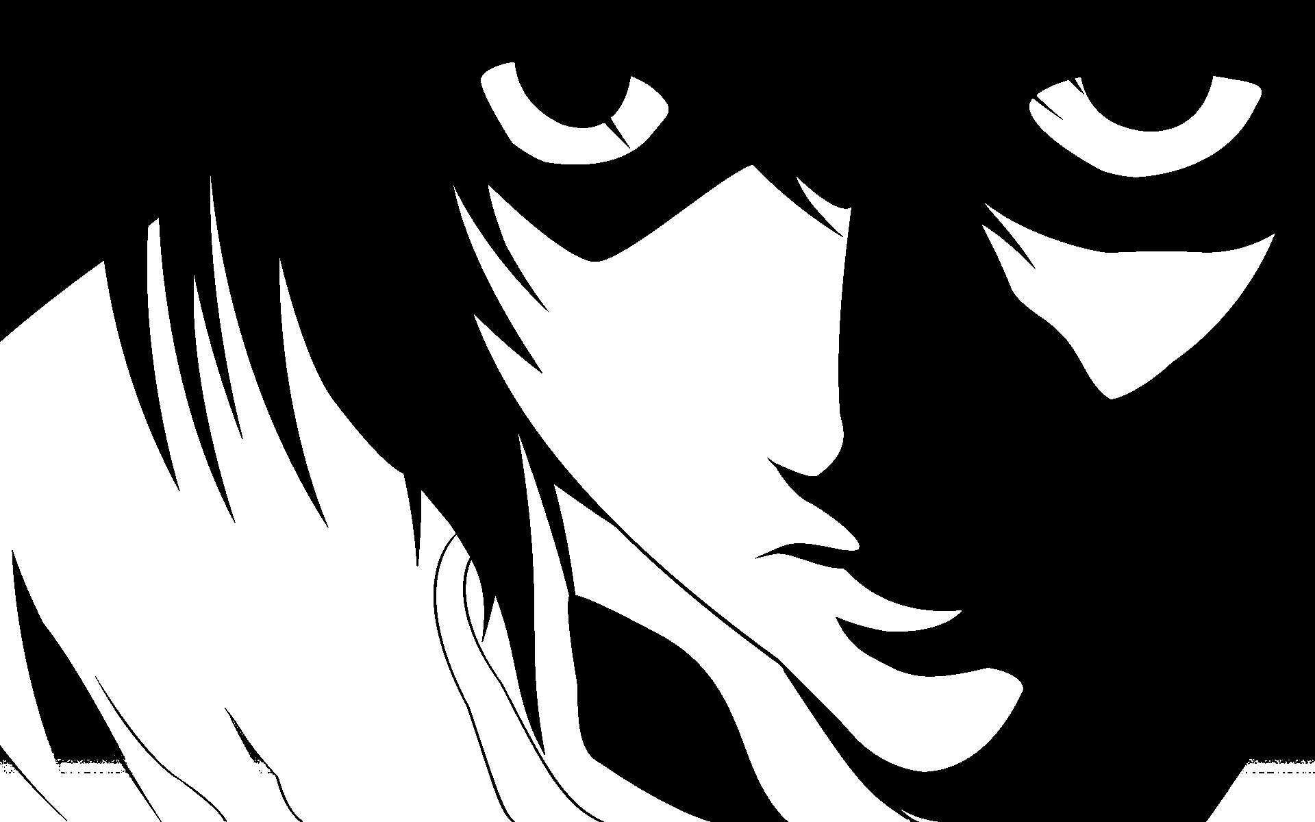 Death Note Black And White L Monochrome Anime Anime Boys