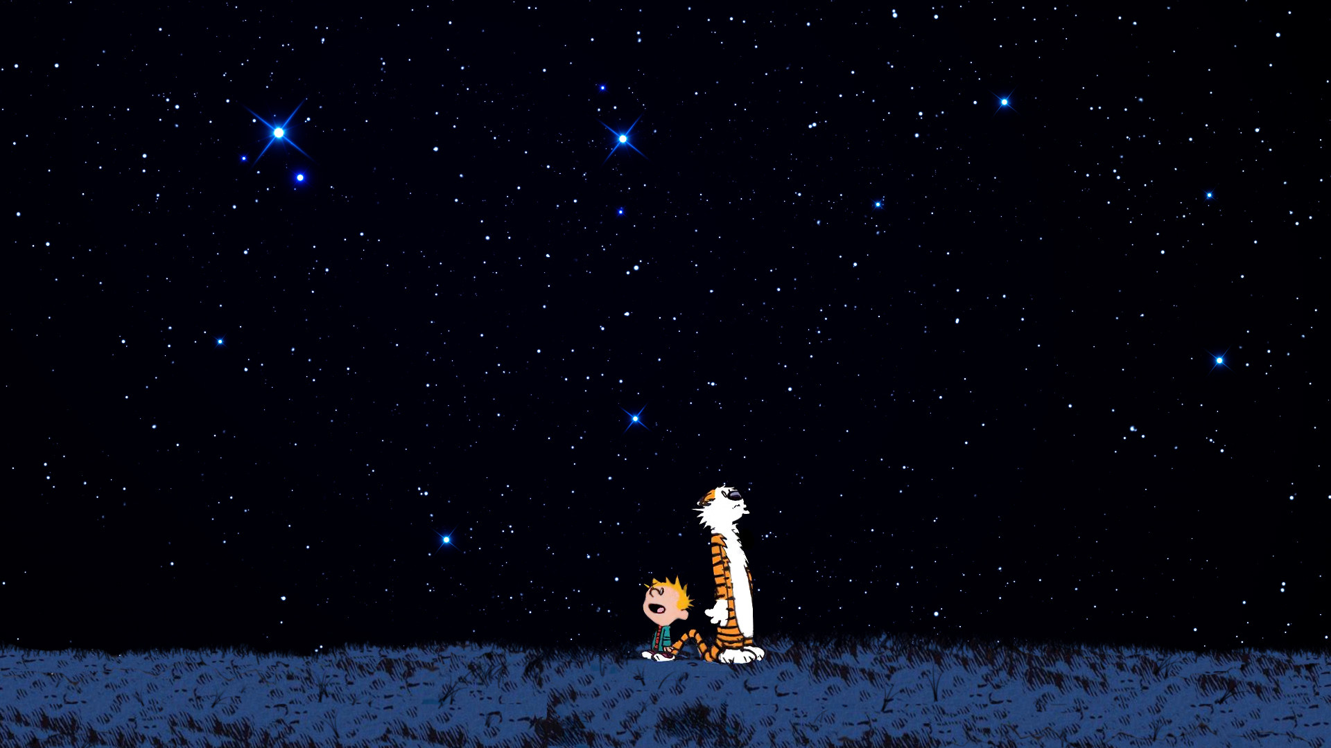 Outer Space Stars Calvin And Hobbes