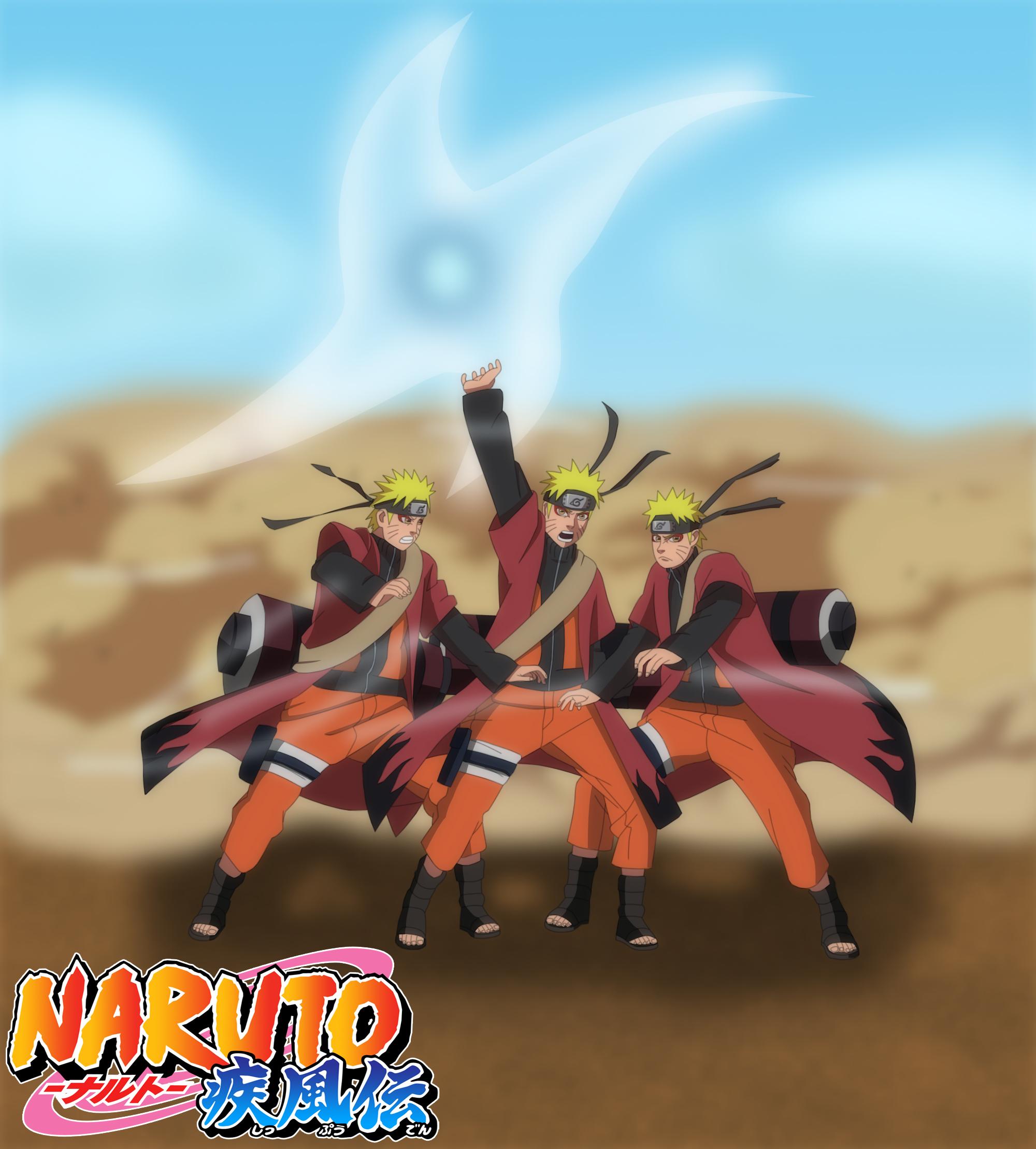Naruto Shippuden Sage Mode Rasenshuriken Uzumaki Naruto