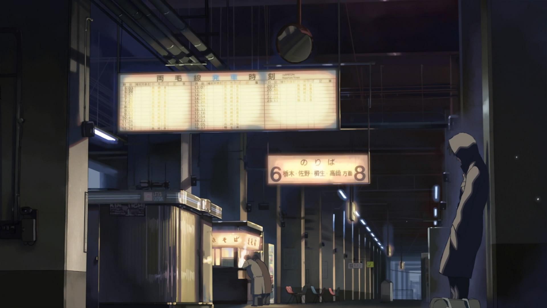 Makoto Shinkai Train Stations Lonely 5 Centimeters Per Second Free Wallpaper Wallpaperjam Com
