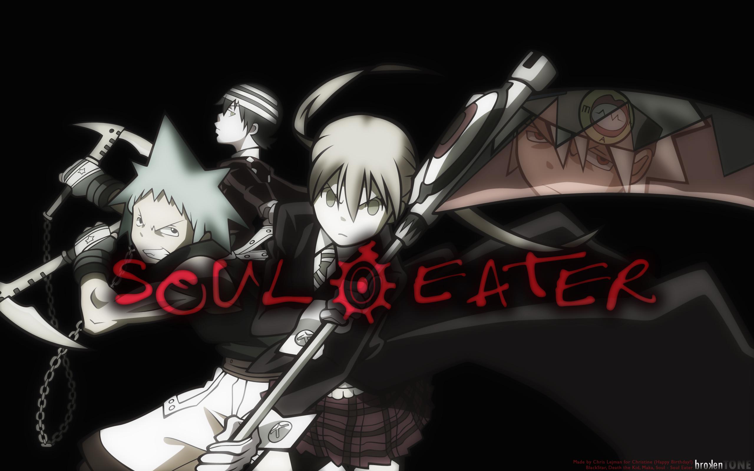 Soul Eater Black Star Death The Kid Albarn Maka Soul Eater