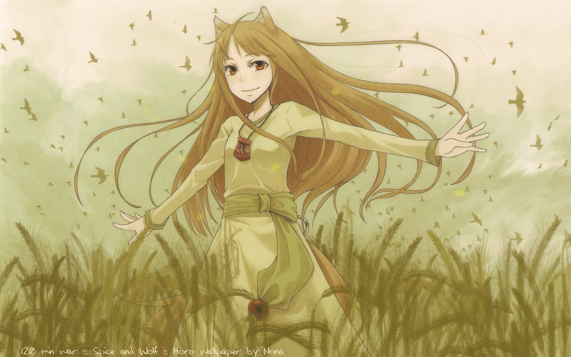 Spice And Wolf Holo The Wise Wolf Anime Girls Free Wallpaper