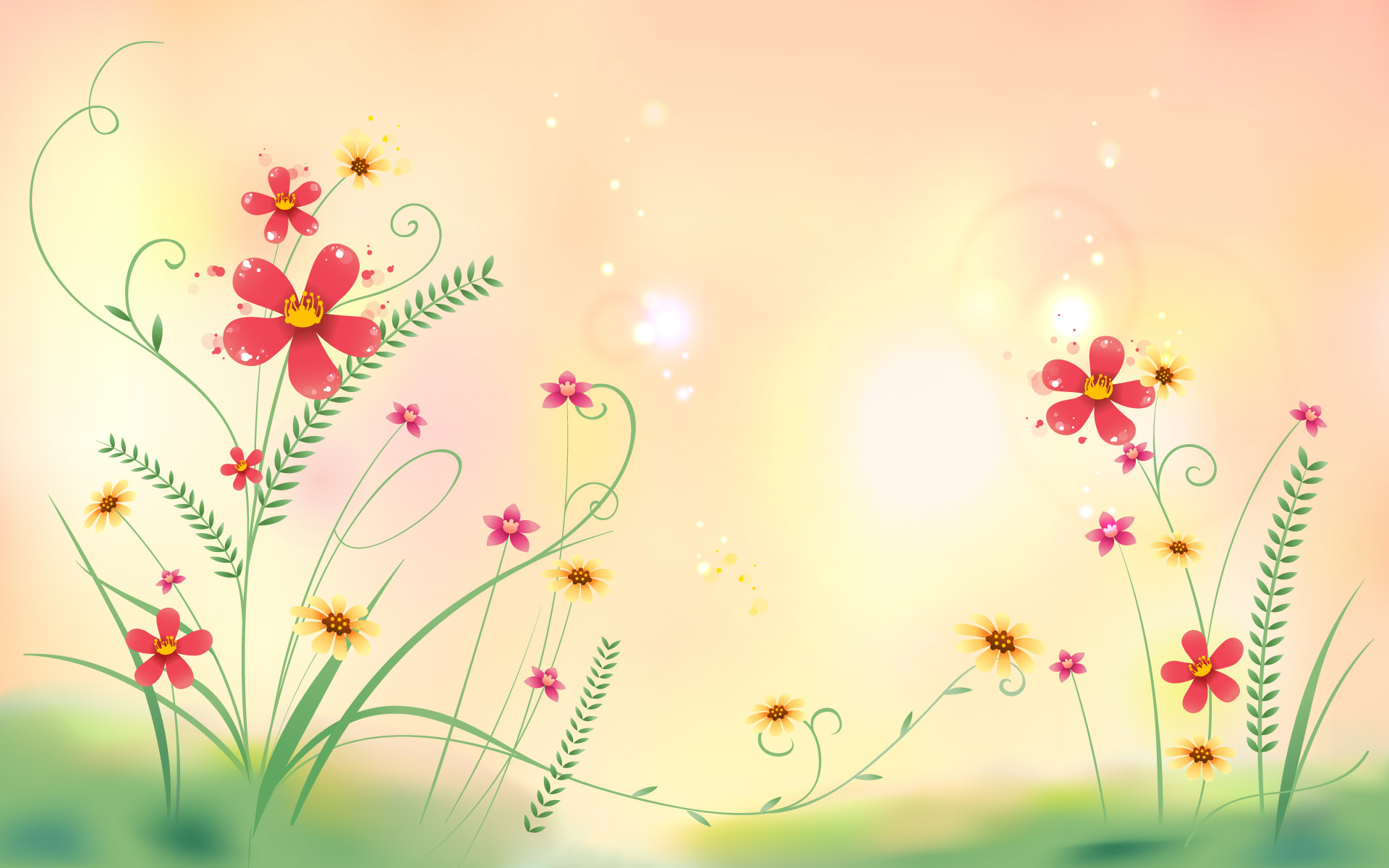 Abstract Flowers Floral Free Wallpaper Wallpaperjam Com