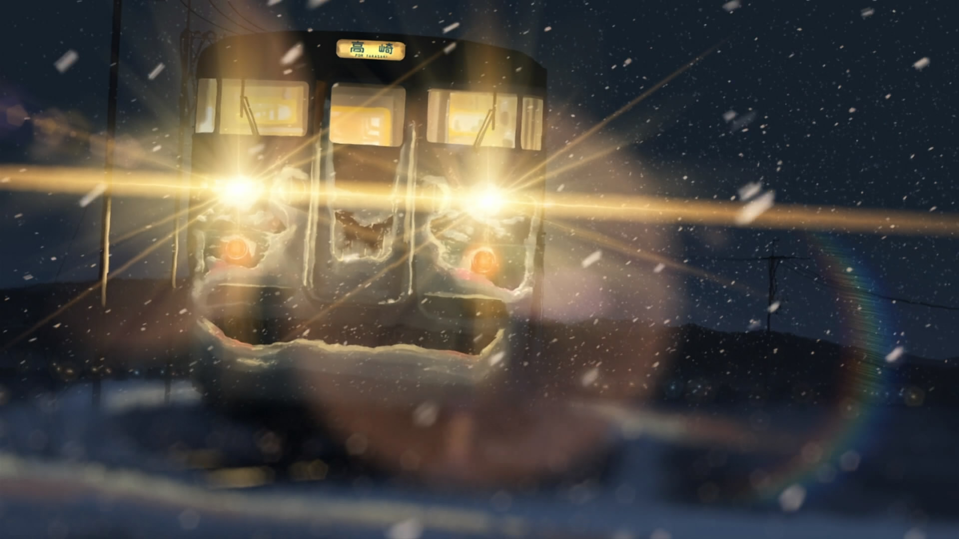 Snow Trains Makoto Shinkai Traffic Lights 5 Centimeters Per