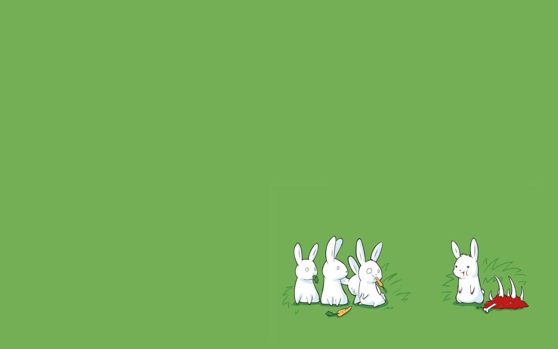bunnies minimalistic drawings simple background simple green background related desktop