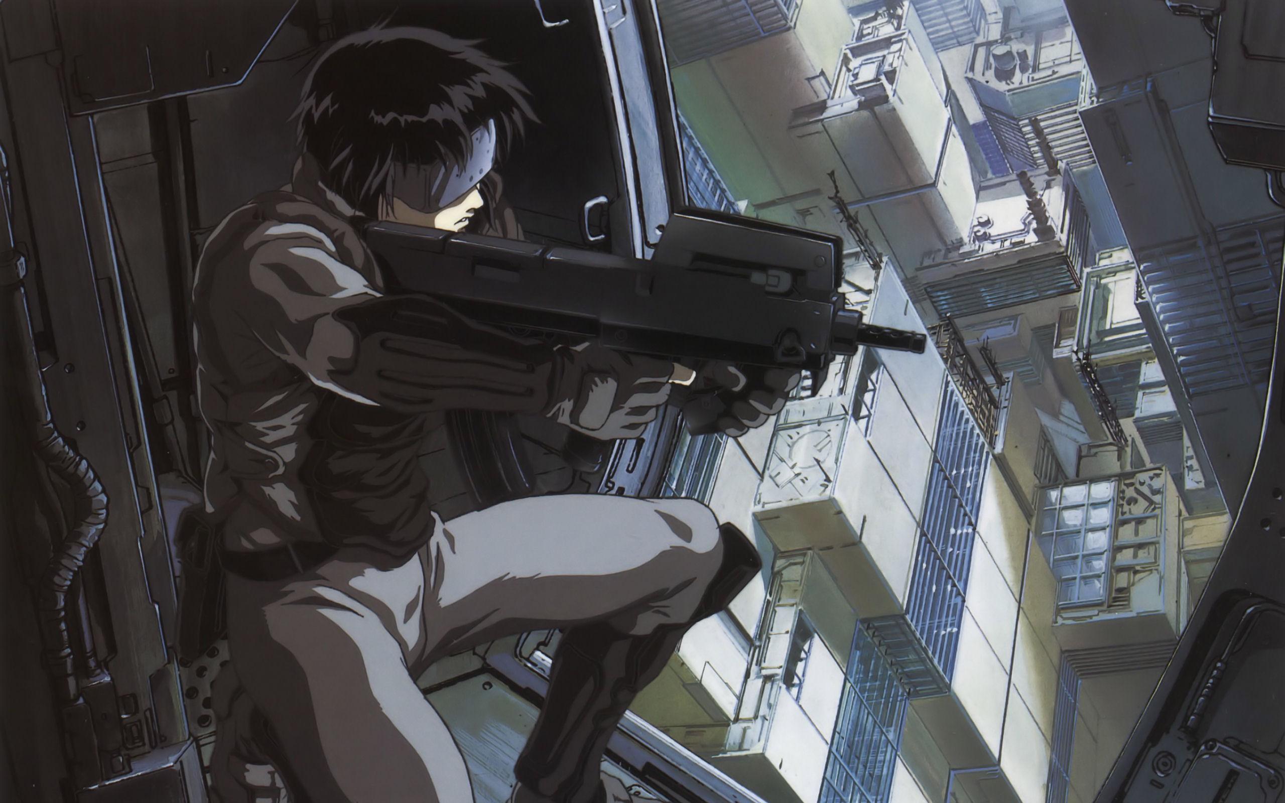 Guns Kusanagi Motoko Major Anime Ghost In The Shell Free