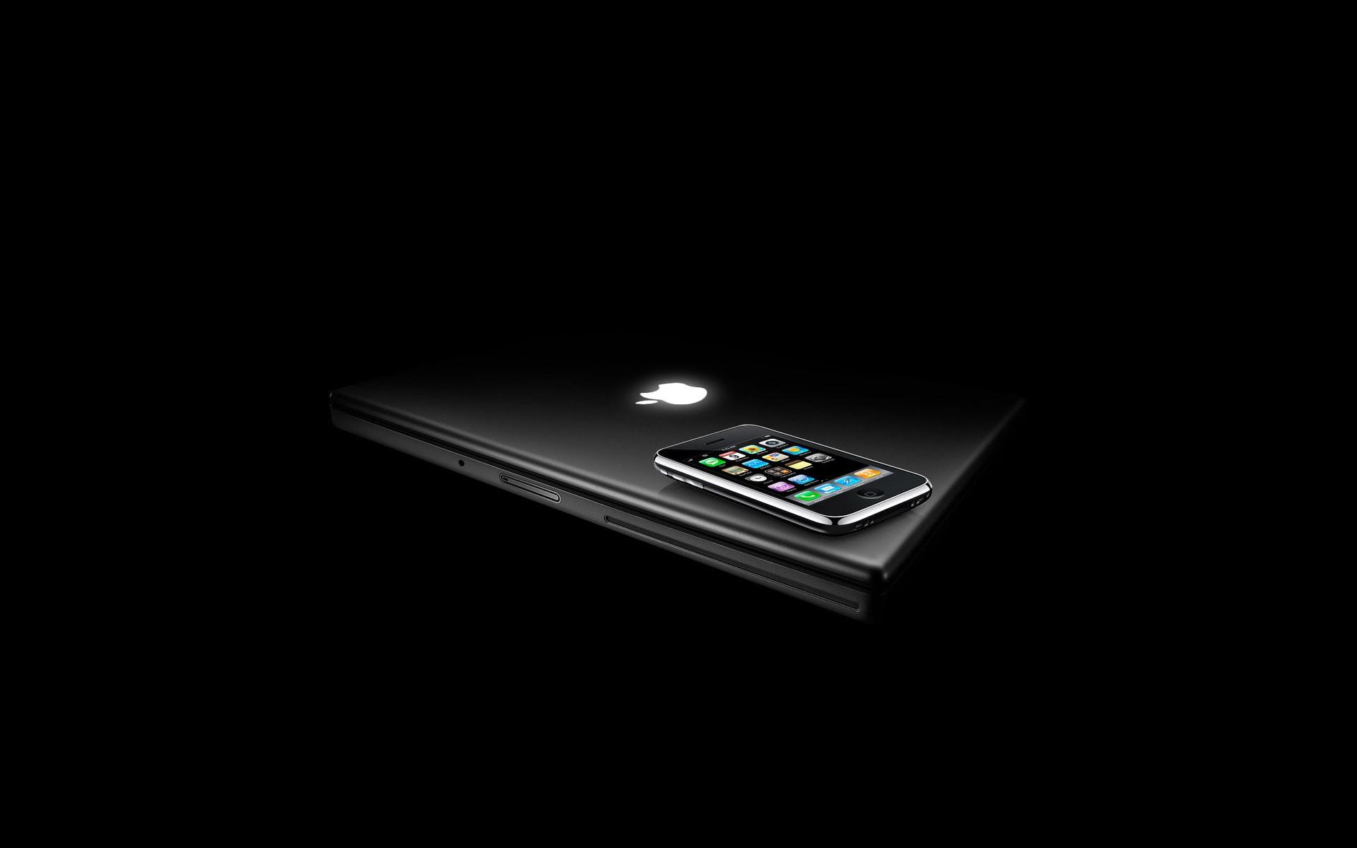 Apple Inc iPhone black background Free Wallpaper WallpaperJam