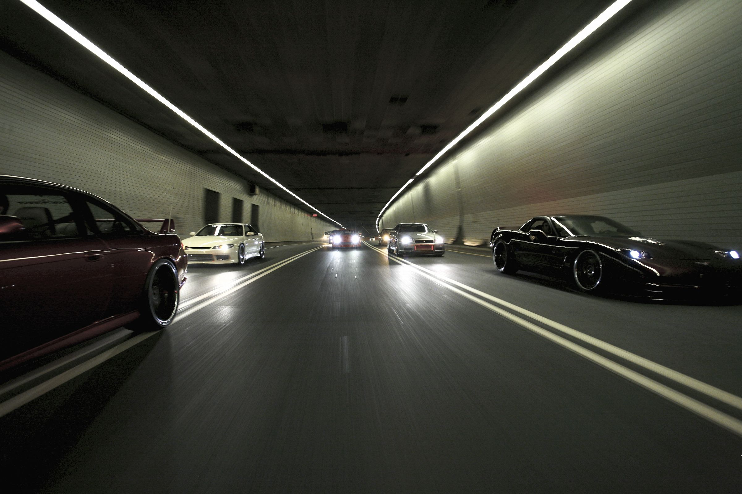 Cars, Japanese, Tunnels, Nissan, Vehicles, Chevrolet Corvette   Free  Wallpaper / WallpaperJam.com