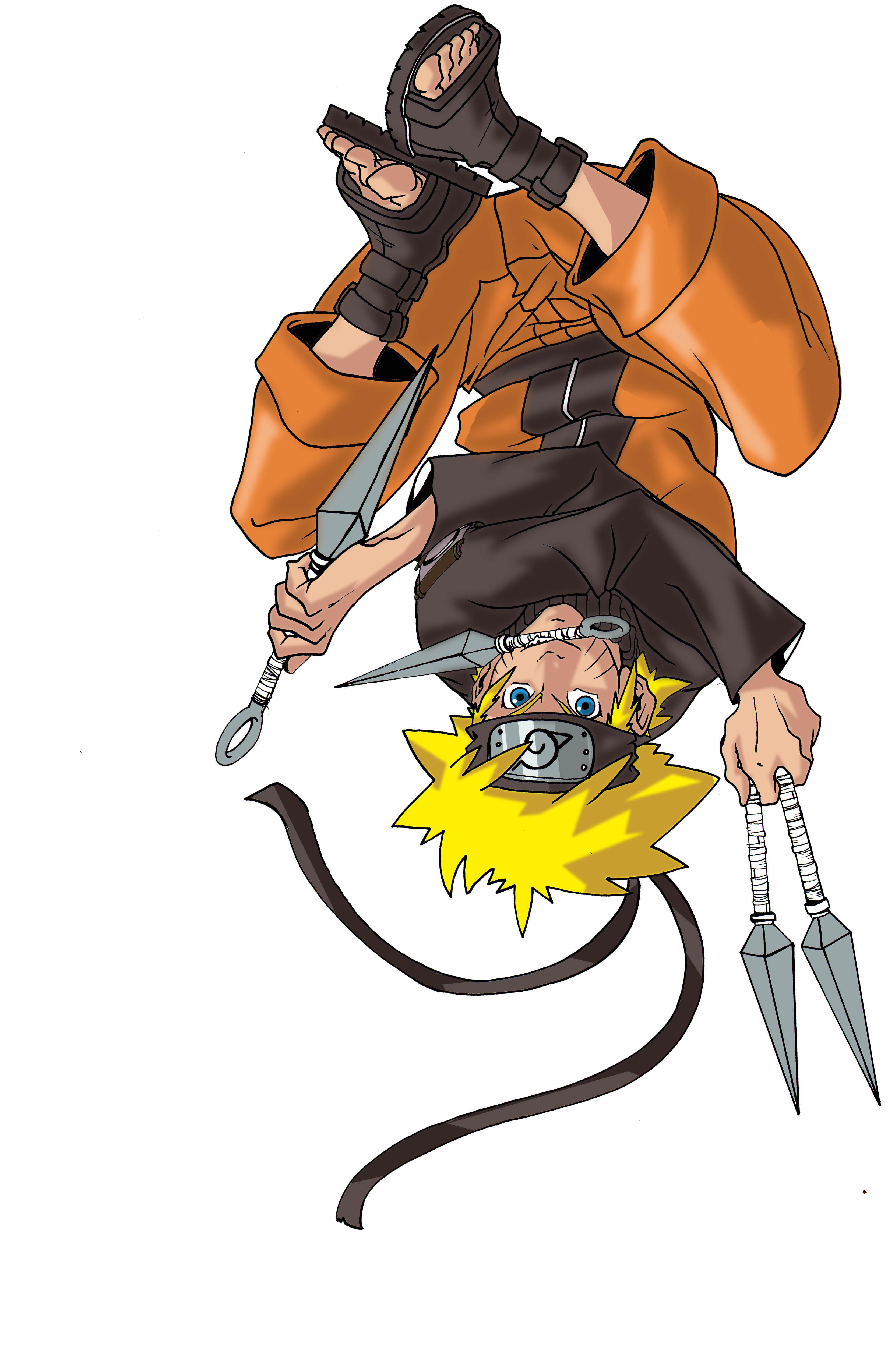 Naruto Shippuden Uzumaki Upside Down Simple Background