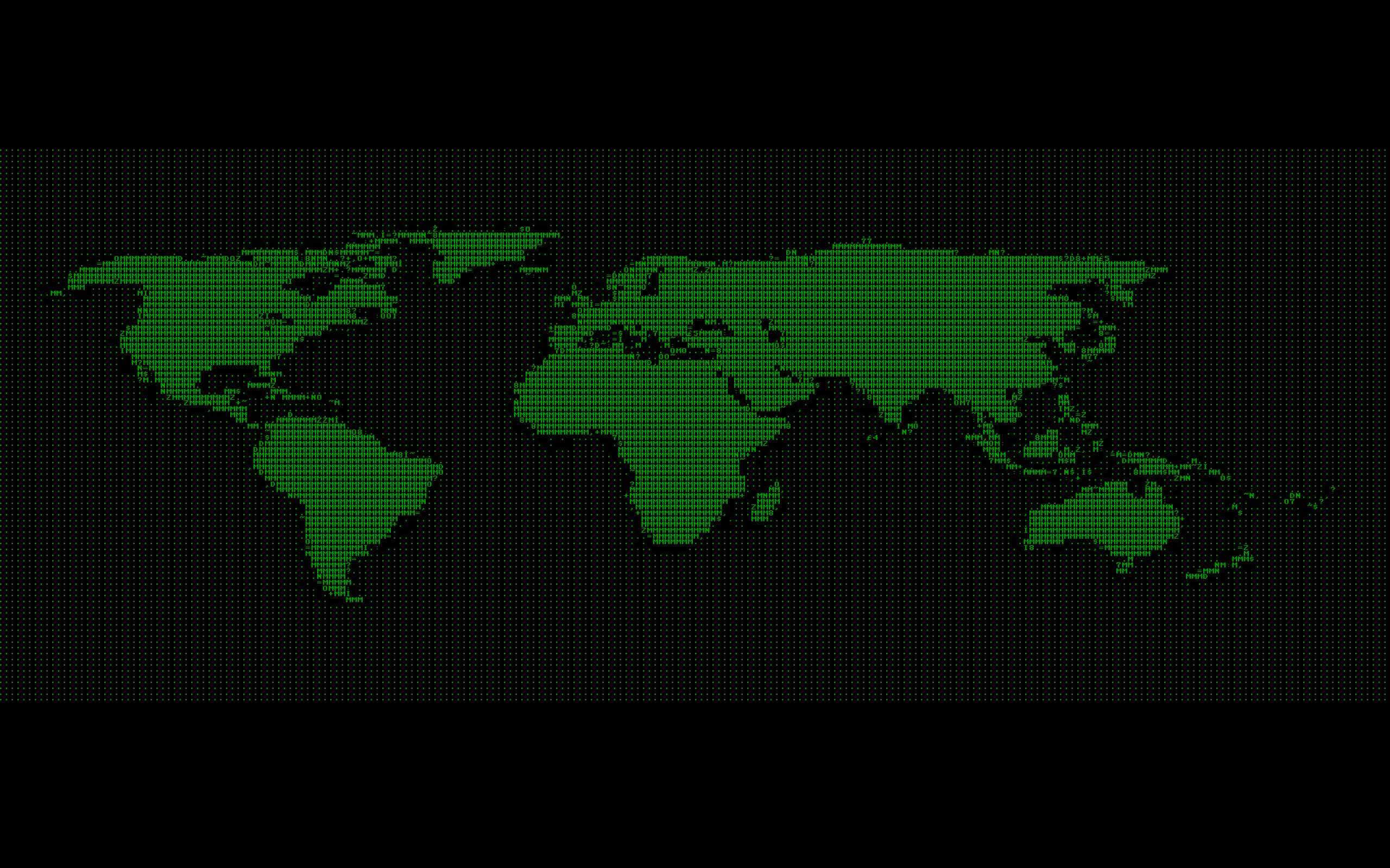 Green Retro Cyberpunk Ascii Maps World Map Free Wallpaper