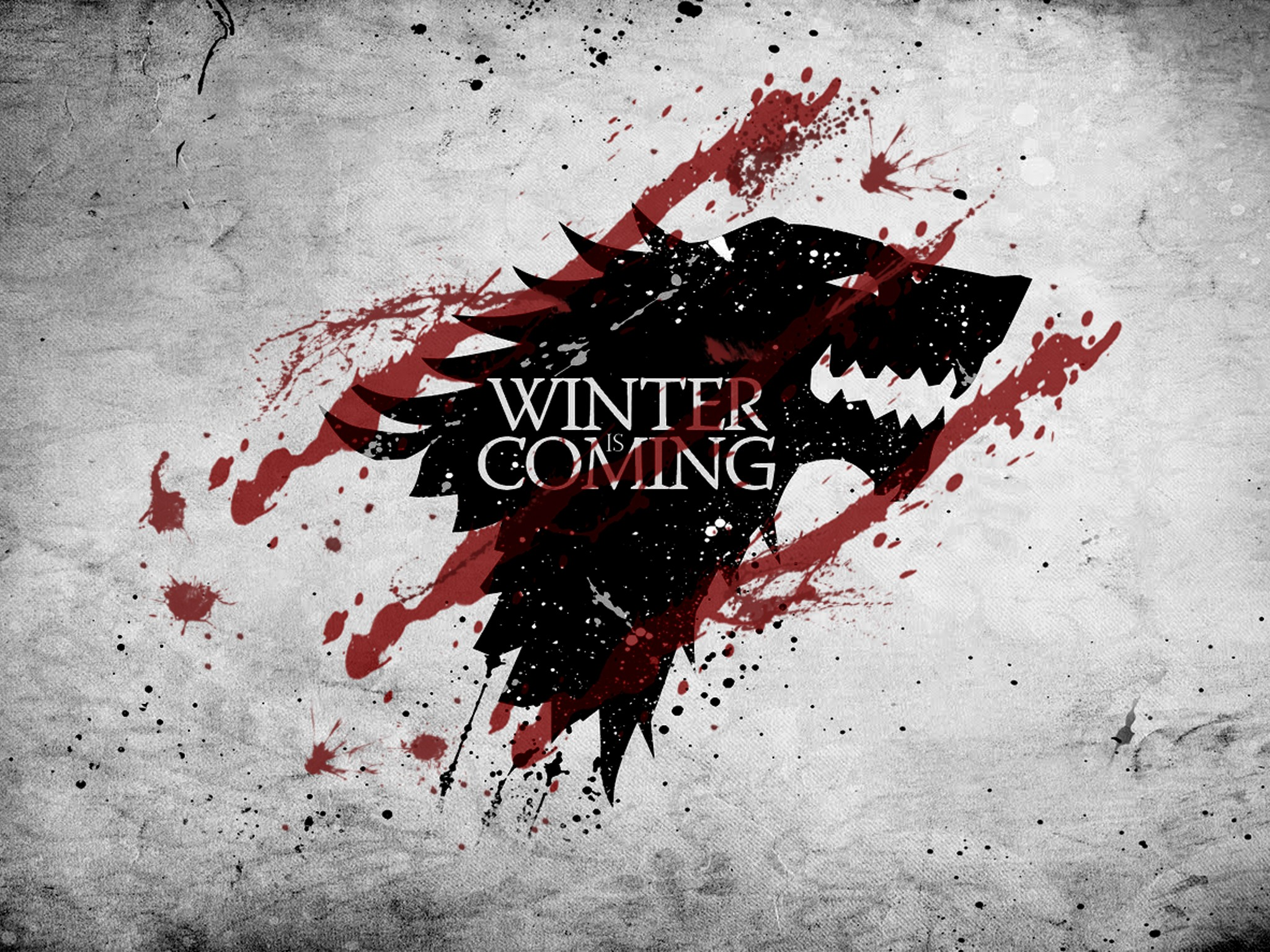 Red White Crest Game Of Thrones Direwolf House Stark Wolves