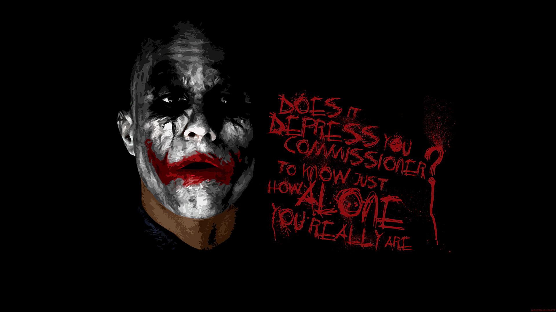 Batman The Joker Typography Heath Ledger The Dark Knight