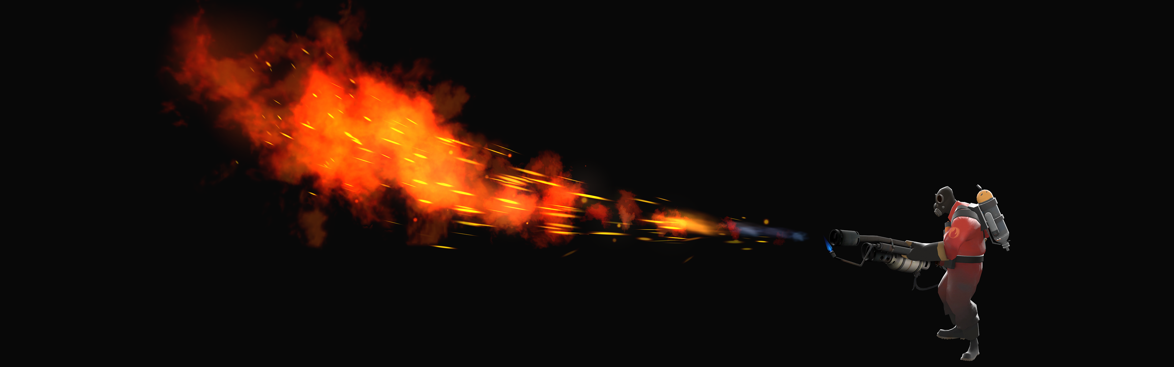Flamethrower Team Fortress 2 Black Background Pyro Free