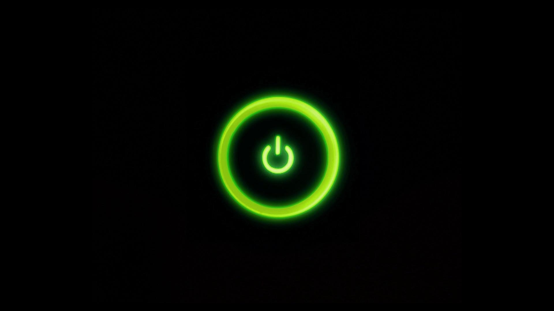 green, power button, xbox 360 - free wallpaper / wallpaperjam