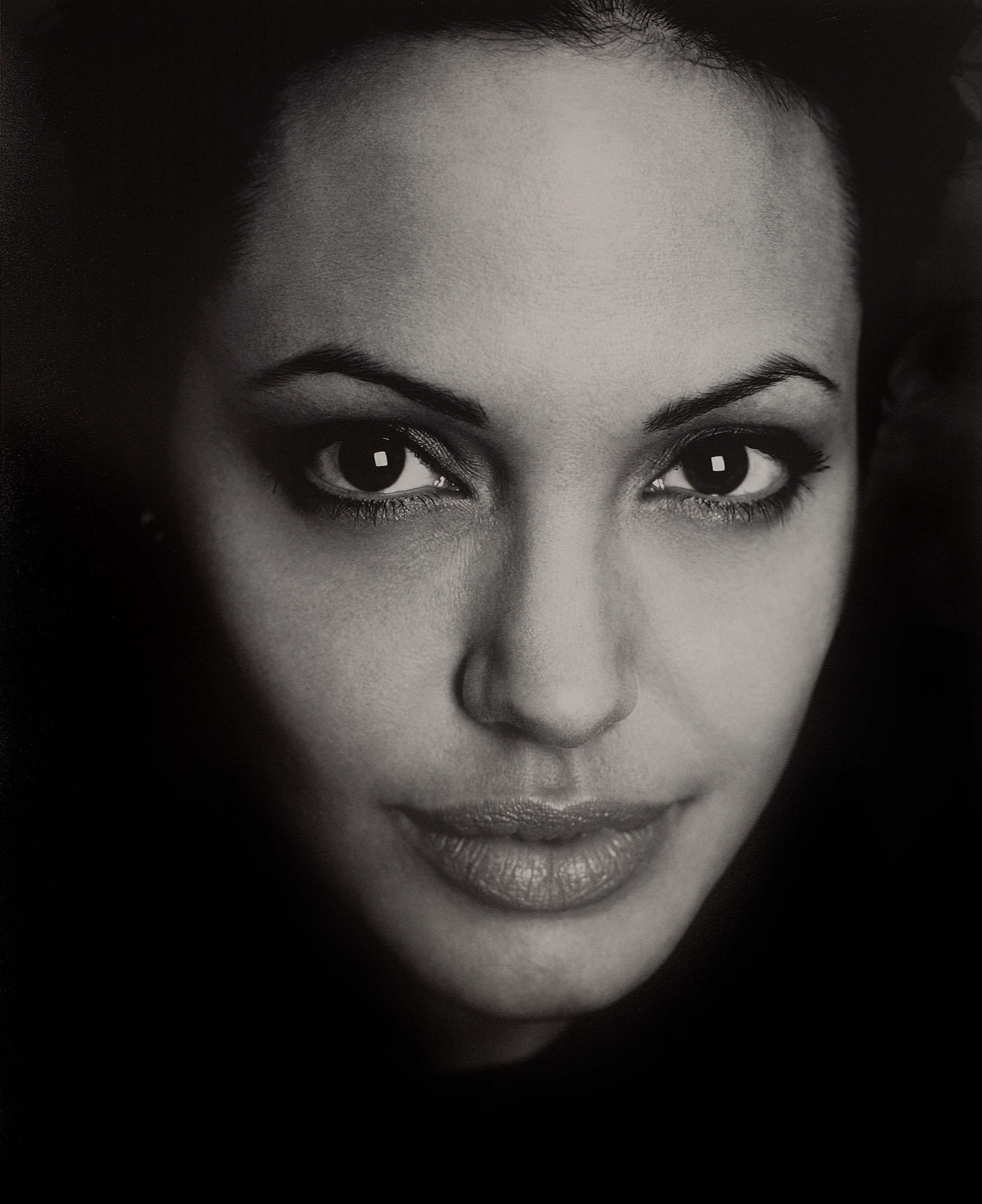 Angelina Jolie Monochrome Faces Greyscale Free Wallpaper Wallpaperjam Com