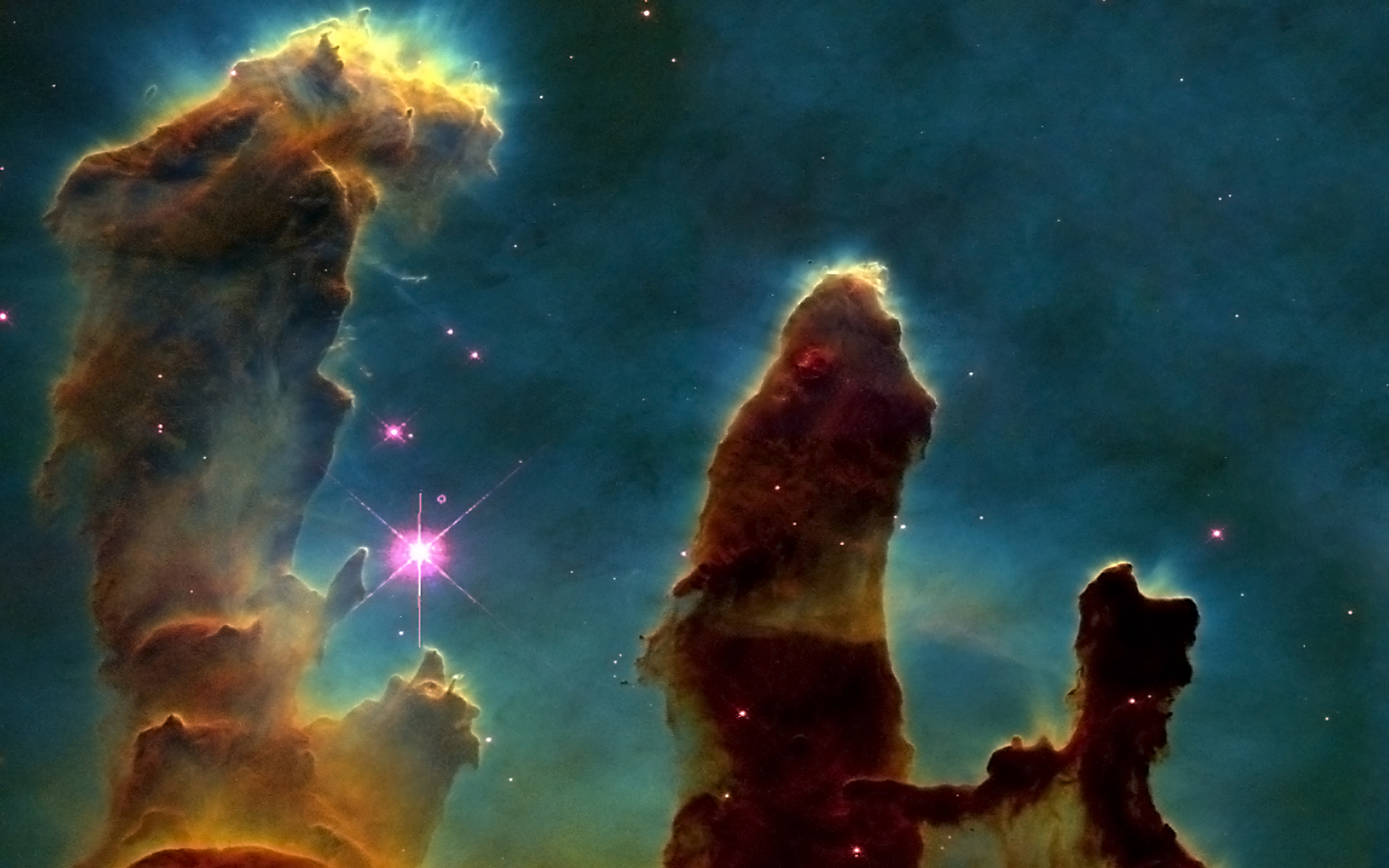 Outer Space Stars Hubble Pillars Of Creation Eagle Nebula